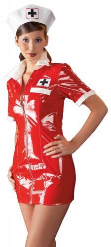 Lack-Kleid Krankenschwester S